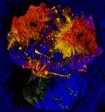 Toujours la vie expressioniste avec des fleurs Photographie stock libre de droits