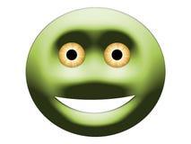 Toujours souriant avec les yeux jaunes illustration stock