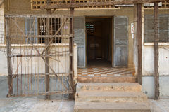 Toul Sleng Memorial. In Phnom Penh. Once a school this place became a prison and tortureplace under the reign of the Khmer Rouge Stock Photography