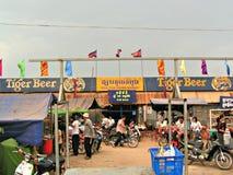 Toul Tom Poung marknad, Cambodja Arkivfoto