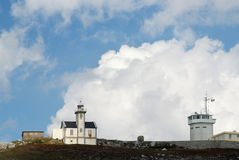 Toulinguet lighthouse and semaphore royalty free stock photos