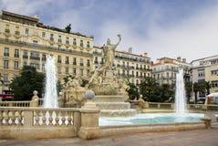 Toulon. Fountain Tambourine. Royalty Free Stock Photo