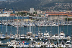 Toulon, França, porto foto de stock