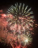 Toulon (France): fireworks Royalty Free Stock Photos