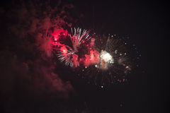 Toulon (France): fireworks Royalty Free Stock Photography