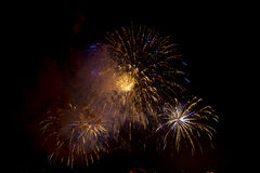 Toulon (France): fireworks Stock Images