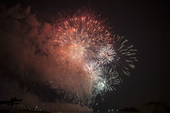 Toulon (France): fireworks Stock Photos
