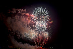Toulon (France): fireworks Royalty Free Stock Photo