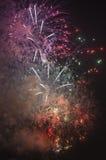 Toulon (Francia): fuegos artificiales Imagen de archivo libre de regalías