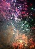 Toulon (Francia): fuegos artificiales Imágenes de archivo libres de regalías