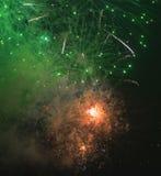 Toulon (Francia): fuegos artificiales Imagenes de archivo