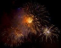 Toulon (Francia): fuegos artificiales Fotografía de archivo libre de regalías
