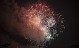 Toulon (Francia): fuegos artificiales Foto de archivo libre de regalías