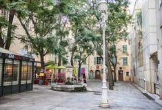 Toulon, Francja, 6 august 2018, evening miejsce paniusią Sibille, obraz royalty free