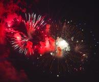 Toulon (Frankreich): Feuerwerke Stockfotografie