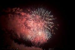 Toulon (Frankreich): Feuerwerke Lizenzfreies Stockfoto