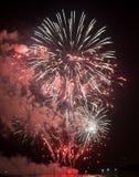 Toulon (Frankrijk): vuurwerk Royalty-vrije Stock Afbeeldingen