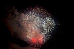 Toulon (Frankrijk): vuurwerk Stock Fotografie