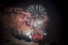 Toulon (Frankrijk): vuurwerk Stock Afbeelding