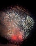 Toulon (Frankrijk): vuurwerk Stock Afbeeldingen