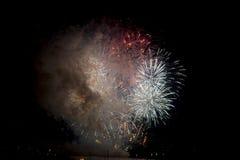 Toulon (Frankrike): fyrverkerier Royaltyfri Bild