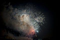 Toulon (Frankrike): fyrverkerier Royaltyfri Foto