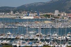 Toulon Frankrike, marina Arkivbild