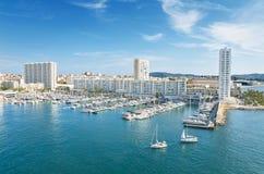 Toulon hamn, Frankrike Royaltyfria Bilder