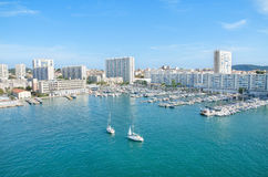 Toulon harbor, France. Royalty Free Stock Images