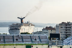 Toulon, harbor and stadium Royalty Free Stock Photography