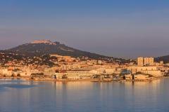 Toulon, La Seyne-sur-Mer. Sunrise in Toulon, La Seyne-sur-Mer. France Royalty Free Stock Image