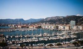 Toulon marina Royaltyfria Foton