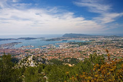 Toulon. Panorama of toulon, provence, france Stock Images