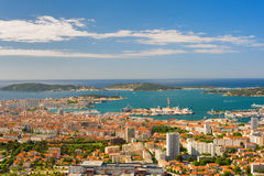 Toulon in a summer morning Royalty Free Stock Photos