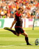 Toulons's Jonny Wilkinson. In a try during the Heineken European Cup quarter-final match USAP Perpignan against RC Toulon at the Olympic Stadium in Barcelona Royalty Free Stock Images