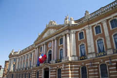 Toulouse. The Capitole de Toulouse, central square of the French city Royalty Free Stock Images