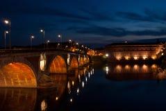 Toulouse alla notte Immagine Stock Libera da Diritti