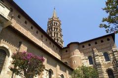 Toulouse Bascilica van St. Sernin Stock Foto