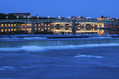 Toulouse Bridges at sunset. Toulouse, Occitanie, France Stock Photography