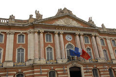 Toulouse Capitole. Famous place in Toulouse, France Stock Photography
