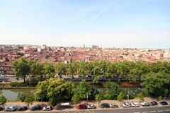 Toulouse city and Midi canal Royalty Free Stock Images