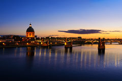 Toulouse city at Sunset time, Toulouse, France Royalty Free Stock Image