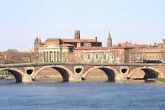 Toulouse cityscape. Architecture of the banks of Toulouse, France Stock Photo