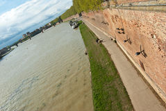 Garonne river embankment in Toulouse Royalty Free Stock Photos