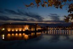 Toulouse e Garona Fotos de Stock Royalty Free