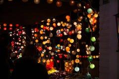 TOULOUSE, FRANÇA - 30 de novembro de 2016, iluminando o suporte, ins das luzes imagem de stock