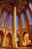 Pillar in Church of the Jacobins stock image