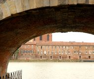 Toulouse and Garonne Royalty Free Stock Image