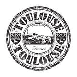 Toulouse grunge rubber stamp Stock Photos