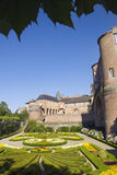 Toulouse Lautrec Museum. The famous red brick building in the southern French city of Albi, set in the surroundings of an ornamental garden Royalty Free Stock Images